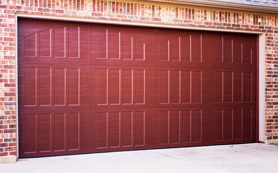 Faux Wood Steel Garage Door