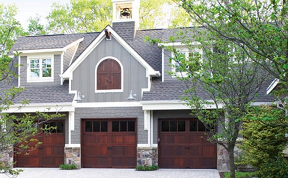 Natural Wood Garage Door